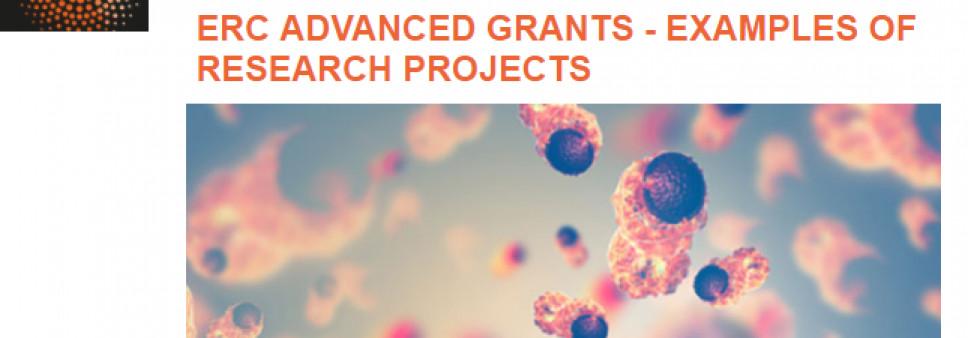 ევროპული კვლევების საბჭოს Advanced Grants- გამორჩეული პროექტების მაგალითები