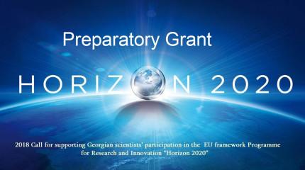 """ფონდი აცხადებს  """"ევროკავშირის კვლევისა და ინოვაციის ჩარჩო პროგრამა """"ჰორიზონტი 2020""""-ში საქართველოს მეცნიერთა მონაწილეობის ხელშეწყობის""""  2018 წლის საგრ ..."""