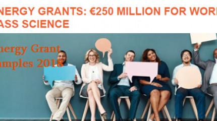 ევროპული კვლევების საბჭოს Synergy Grant 2018-ის ფარგლებში დაფინანსებული პროექტები