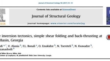 Active inversion tectonics, simple shear folding and back -thrusting  at Rioni Basin, Georgia