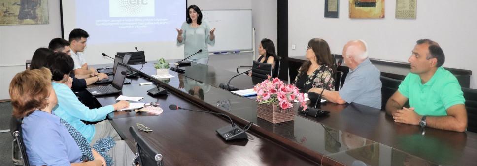 """საინფორმაციო შეხვედრა """"ევროპული კვლევების საბჭოს (ERC) გრანტის სამეცნიერო ხელმძღვანელთან საქართველოს მკვლევართა სამეცნიერო სტაჟირების კონკურსის"""" შესახებ"""