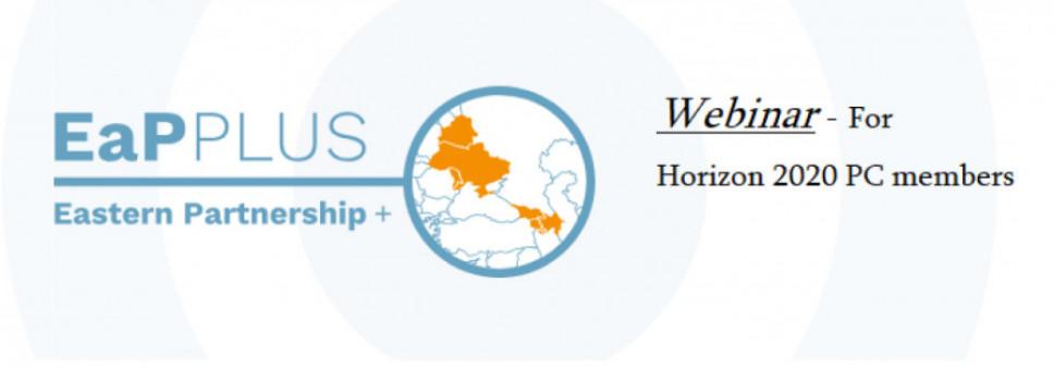 EaP Plus webinar for Horizon 2020 PC members (Apr 23, 2019) - presentations and recording