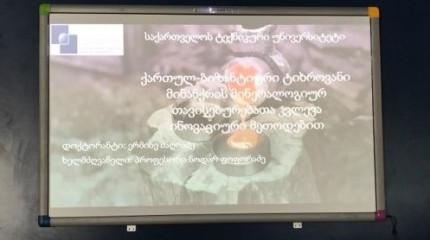 """პროექტი   """"ქართულ-ბიზანტიური ტიხროვანი მინანქრის მინერალოგიურ თავისებურებათა კვლევა ინოვაციური მეთოდებით""""  - შედეგების პრეზენტაცია და დისერტაციის დაცვ ..."""