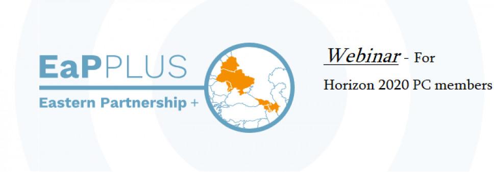 EaP plus webinar for Horizon 2020 PC members