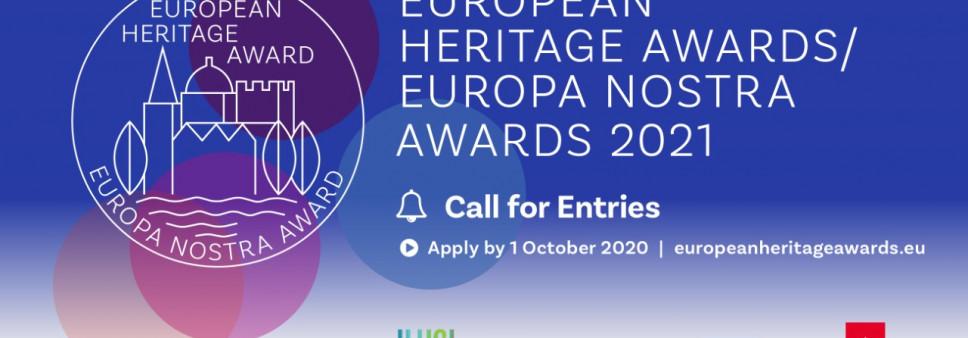 კონკურსი European Heritage Awards Europa Nostra Awards 2021