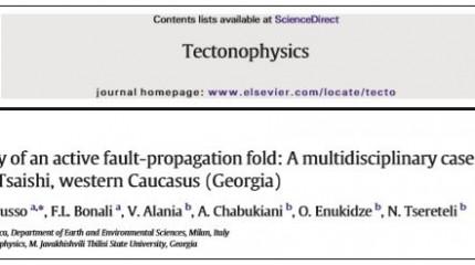 3-D anatomy of active fault-propagation fold: A multidisciplinary case study from Tsaishi, western Caucasus (Georgia)