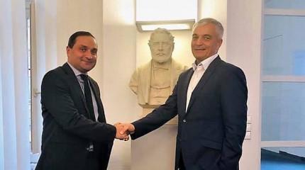 შეხვედრა გერმანიაში, ქ. შტუტგარტში შტაინბაისის ფონდის პრეზიდენტთან